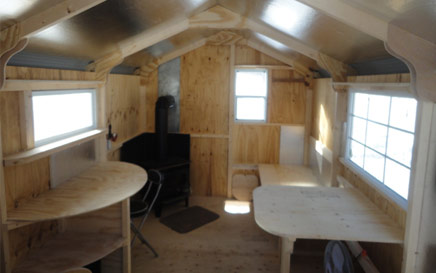The Deluxe Ice Hut Inside 1