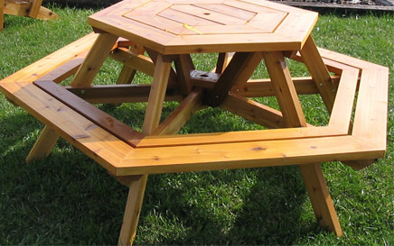 The Hexagon Picnic Table